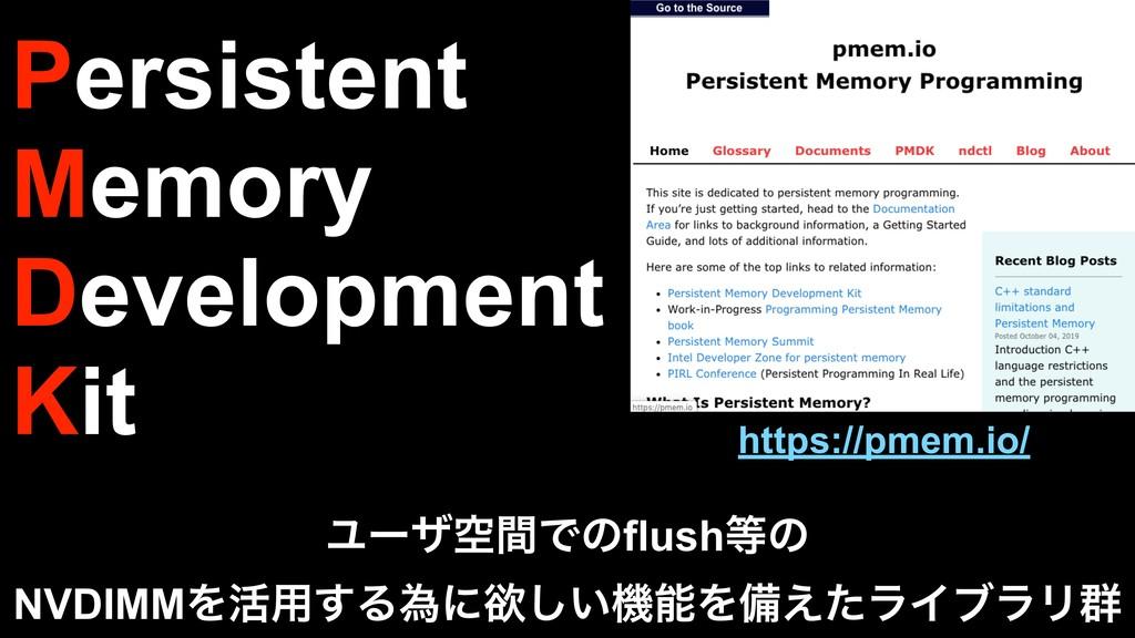 Persistent Memory Development Kit ϢʔβۭؒͰͷflush...