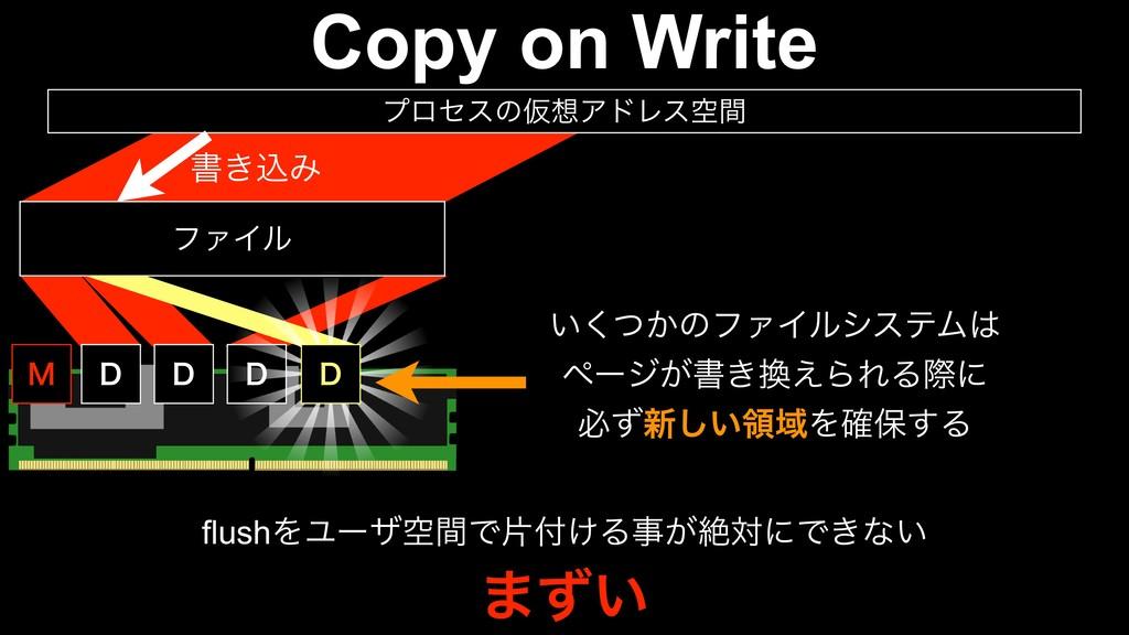Copy on Write % % % ϑΝΠϧ ϓϩηεͷԾΞυϨεۭؒ % . ͍͔ͭ͘...