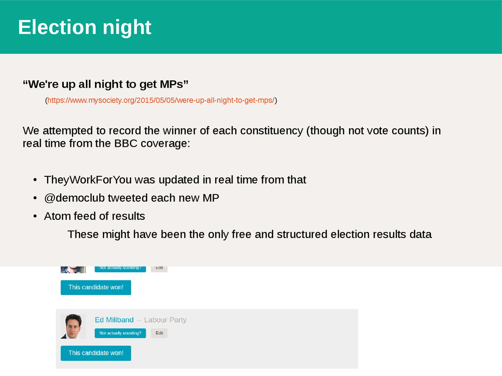 """Election night """"We're up all night to get MPs"""" ..."""