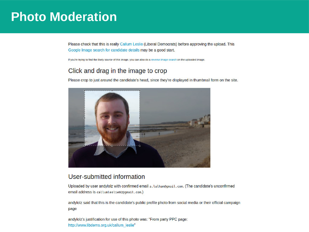 Photo Moderation