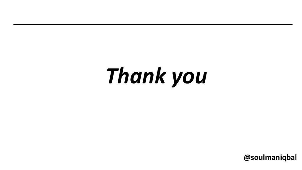 Thank you @soulmaniqbal