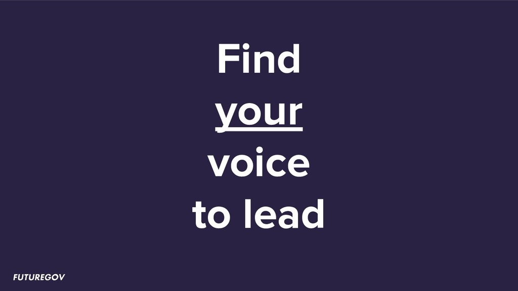 Find your voice to lead