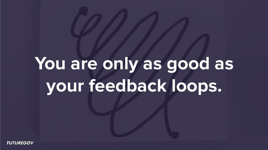 You are only as good as your feedback loops.