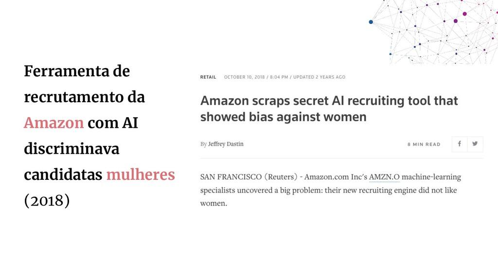 Ferramenta de recrutamento da Amazon com AI dis...