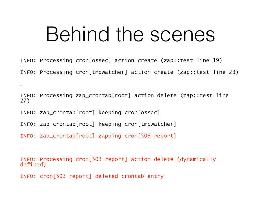 Behind the scenes INFO: Processing cron[ossec] ...