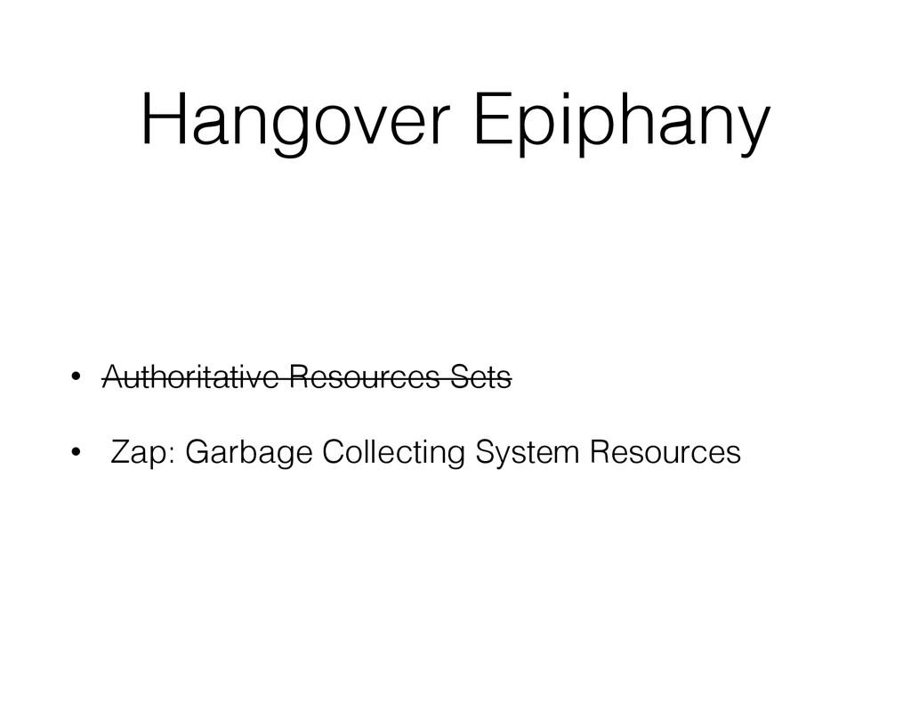 Hangover Epiphany • Authoritative Resources Set...
