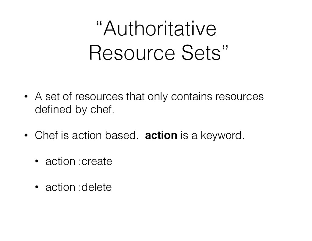 """Authoritative Resource Sets"" • A set of resour..."