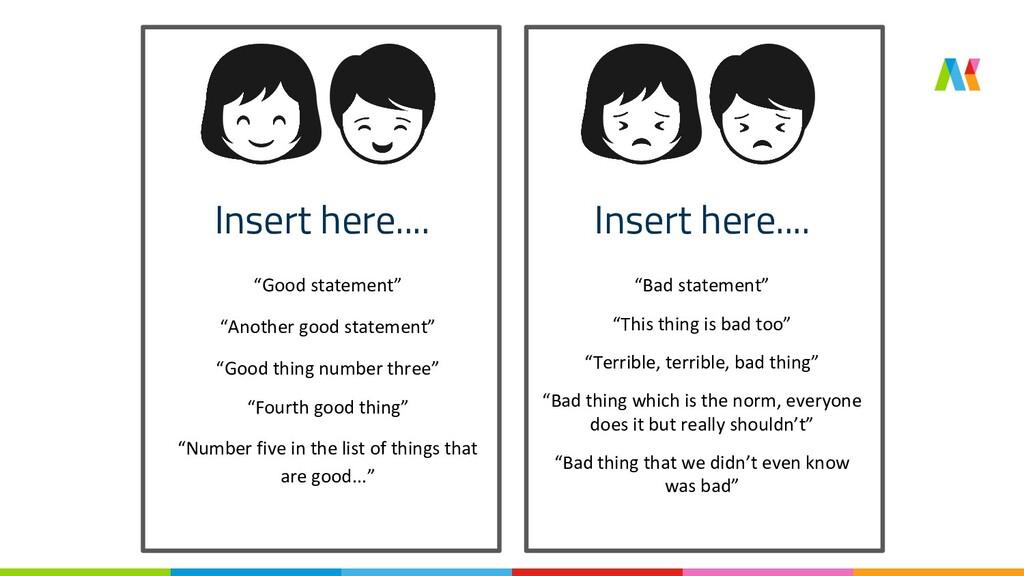 """Insert here.... Insert here.... """"Good statement..."""