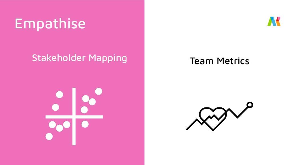 Stakeholder Mapping Team Metrics Empathise