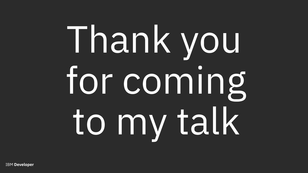 Thank you for coming to my talk