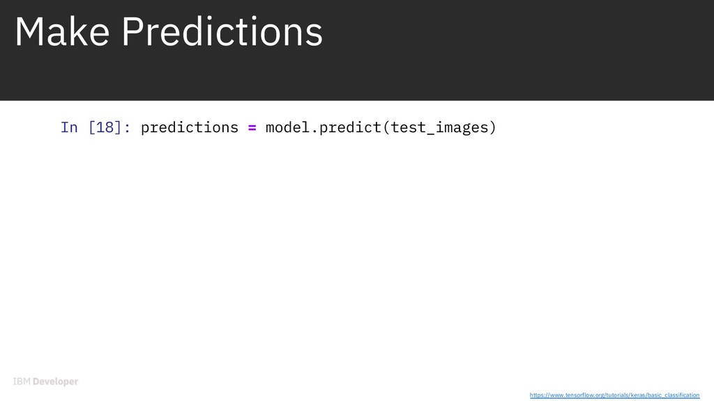Make Predictions In [18]: predictions = model.p...