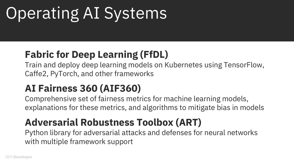 Operating AI Systems Fabric for Deep Learning (...