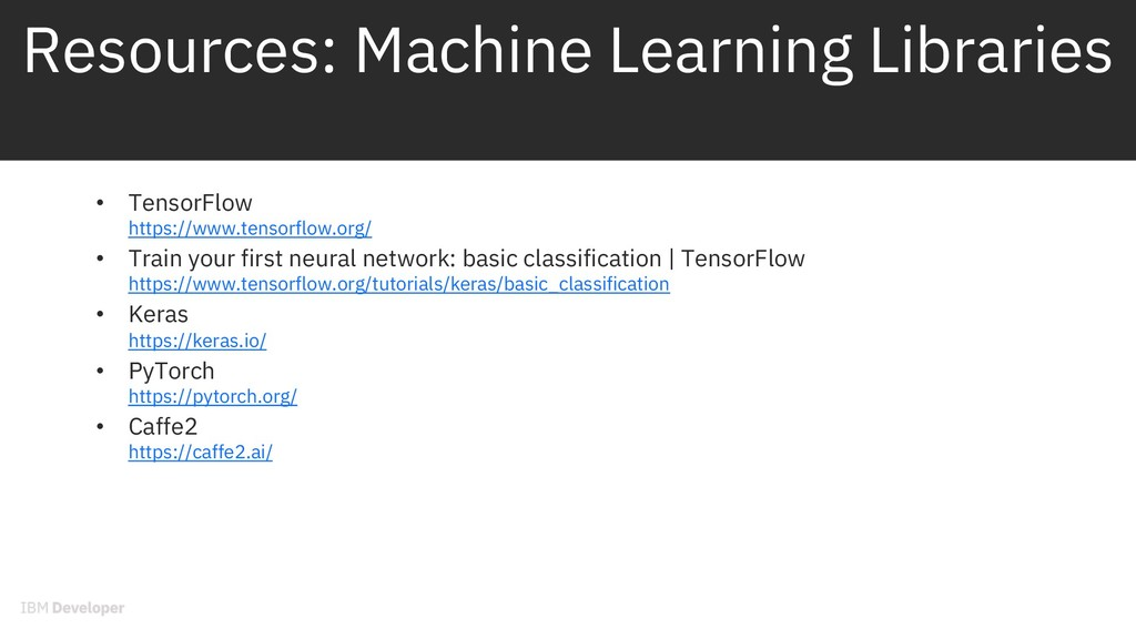 Resources: Machine Learning Libraries • TensorF...
