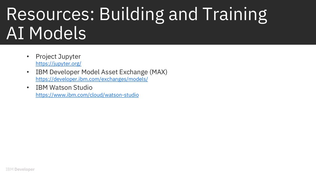 Resources: Building and Training AI Models • Pr...
