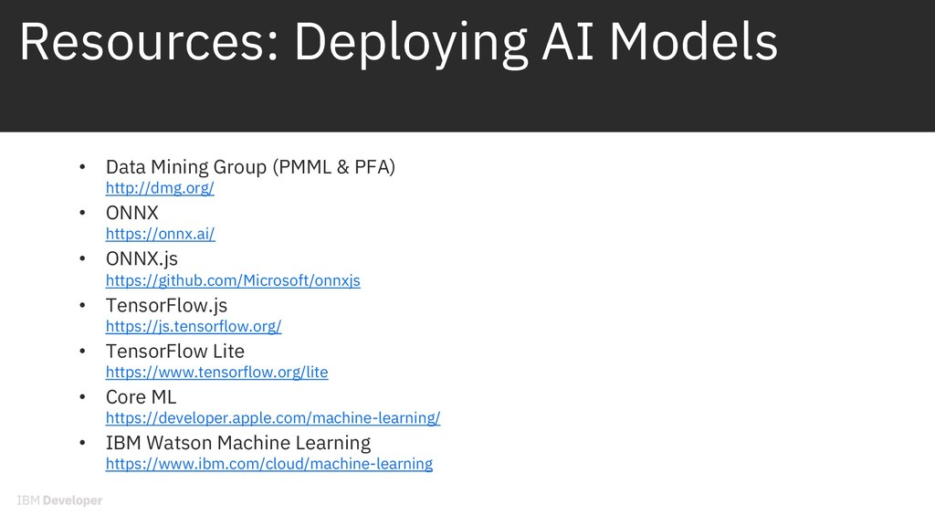 Resources: Deploying AI Models • Data Mining Gr...