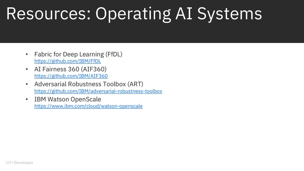 Resources: Operating AI Systems • Fabric for De...