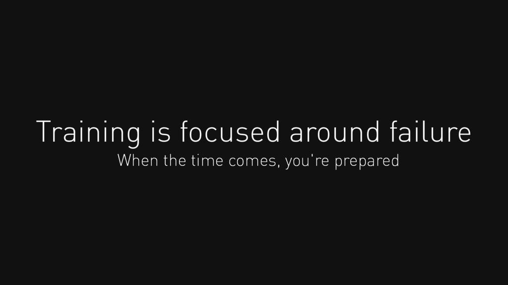 Training is focused around failure When the tim...
