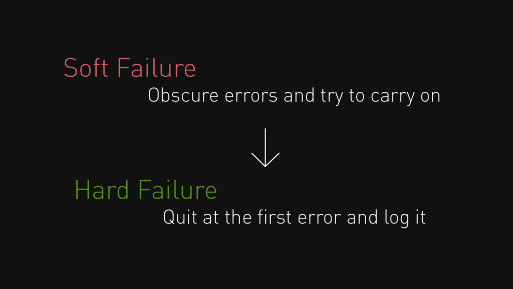 Soft Failure Obscure errors and try to carry on...