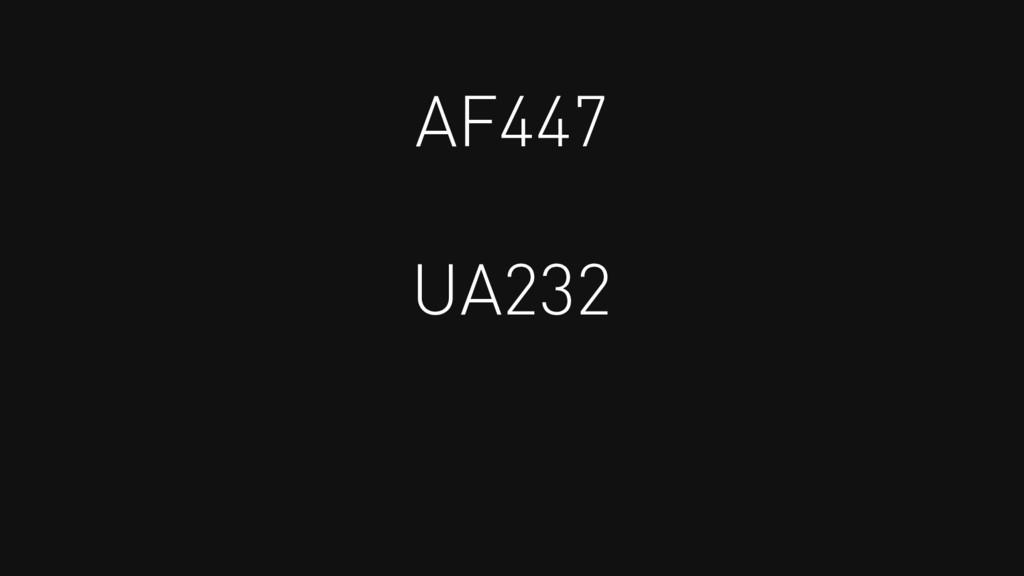 AF447 UA232