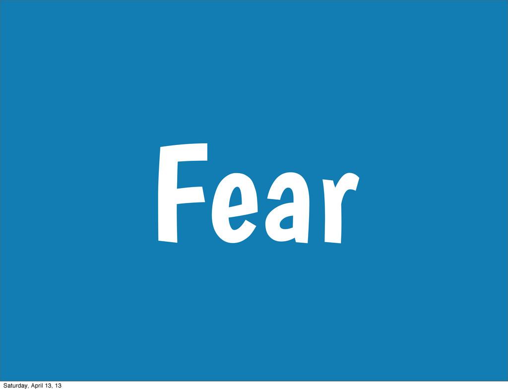 Fear Saturday, April 13, 13