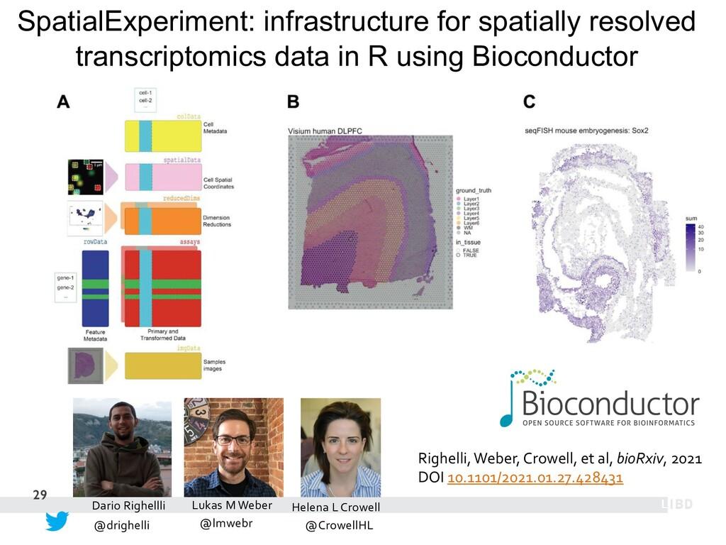 29 SpatialExperiment: infrastructure for spatia...