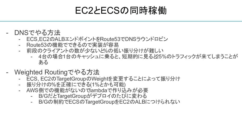 - DNSでやる方法 - ECS,EC2のALBエンドポイントをRoute53でDNSラウンド...