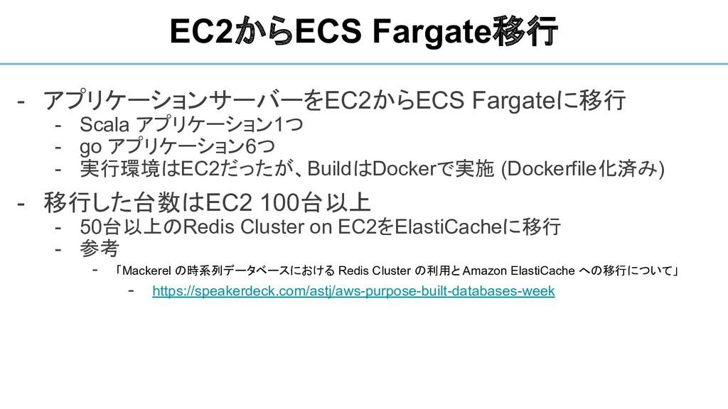 - アプリケーションサーバーをEC2からECS Fargateに移行 - Scala アプリケ...
