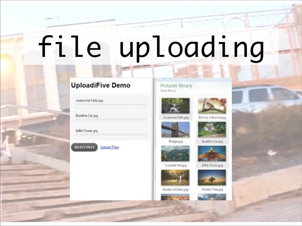 file uploading