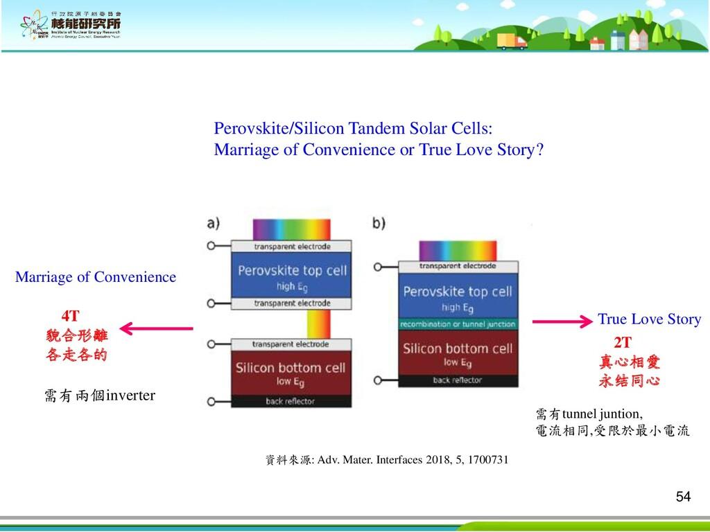 54 Perovskite/Silicon Tandem Solar Cells: Marri...