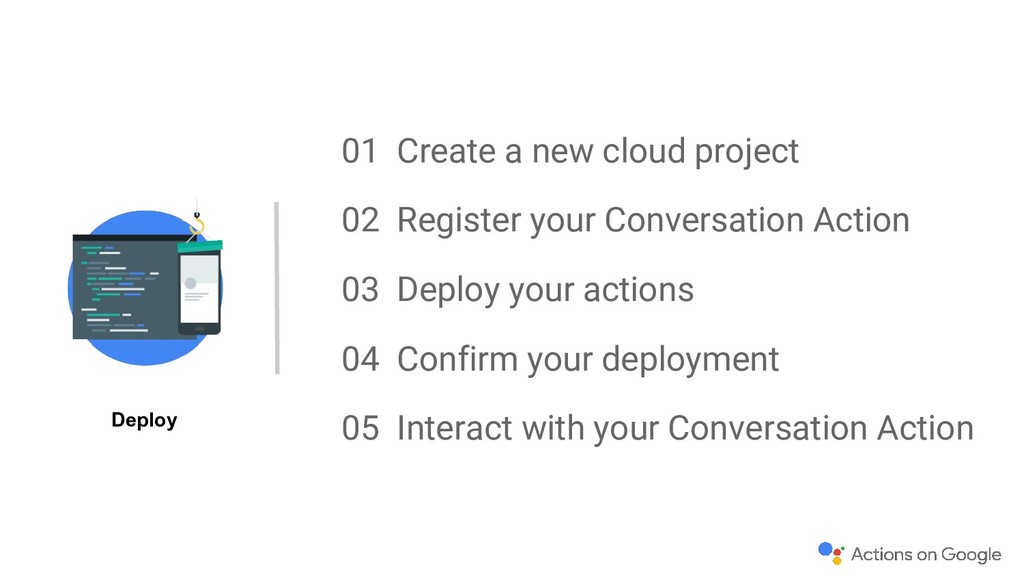 01 Create a new cloud project 02 Register your ...