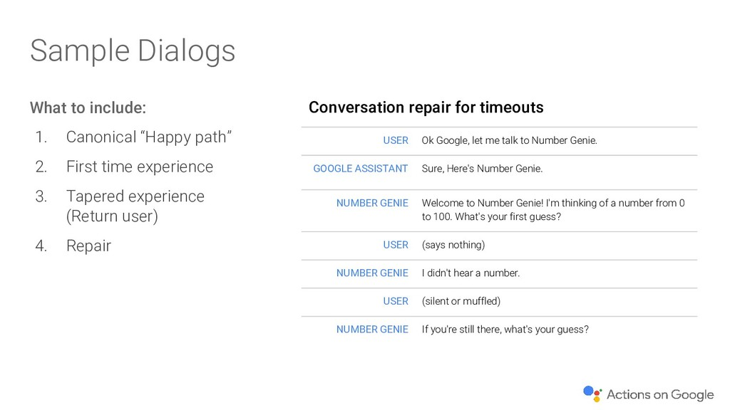 Conversation repair for timeouts USER Ok Google...