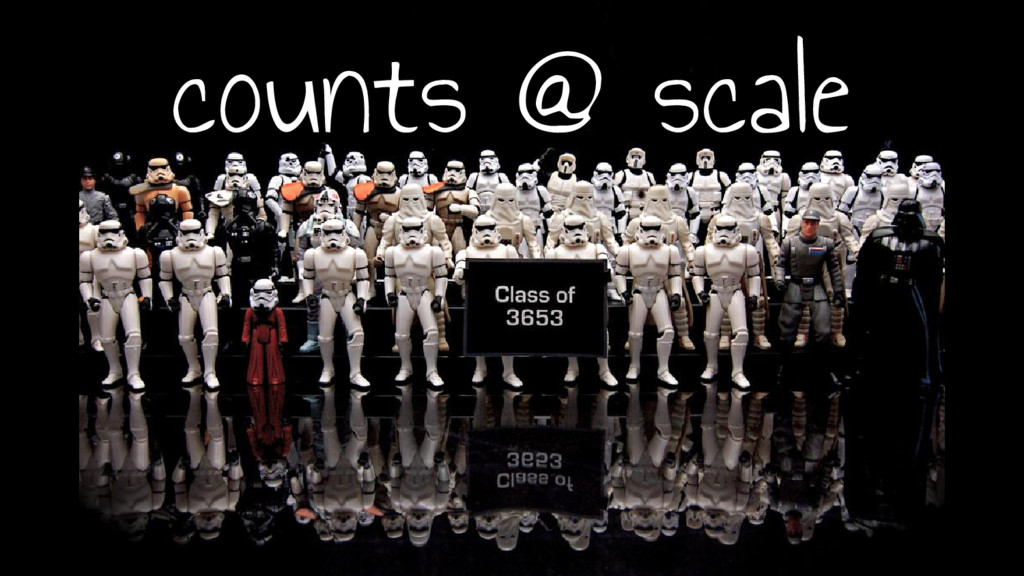 counts @ scale