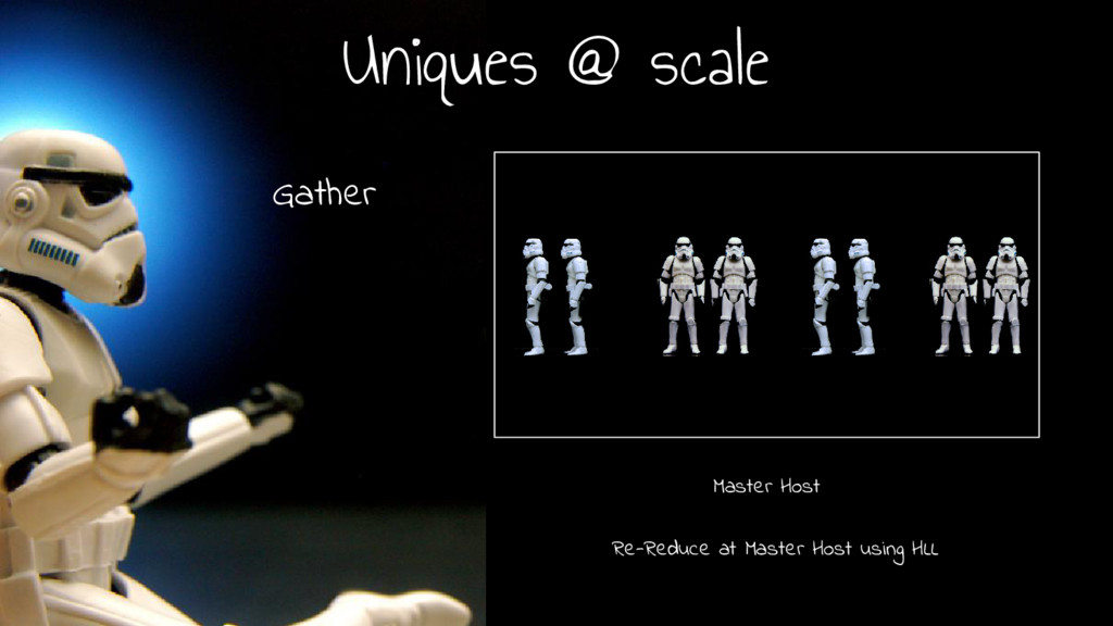Uniques @ scale Master Host Re-Reduce at Master...