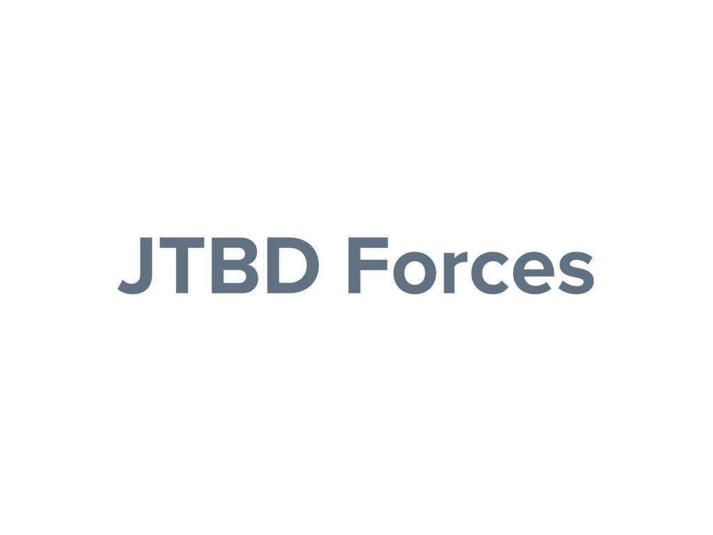 JTBD Forces