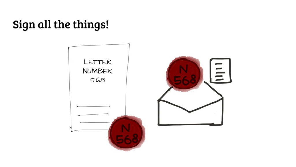 Sign all the things! LETTER NUMBER 568