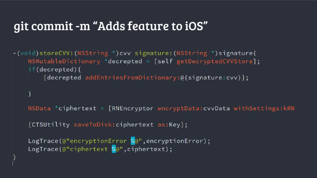 """git commit -m """"Adds feature to iOS"""""""