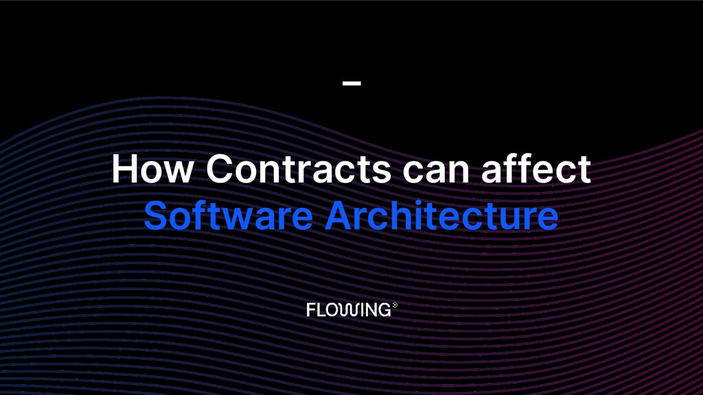 How Contracts can affect Software Architecture _