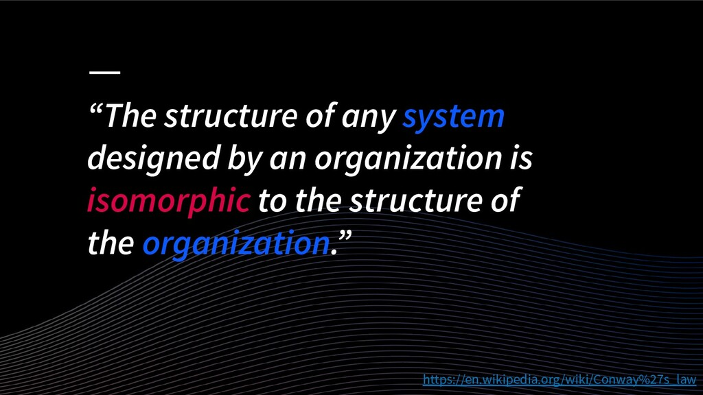 """""""The structure of any system designed by an org..."""
