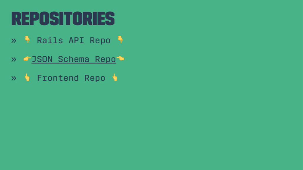 "Repositories » ! Rails API Repo ! » ""JSON Schem..."