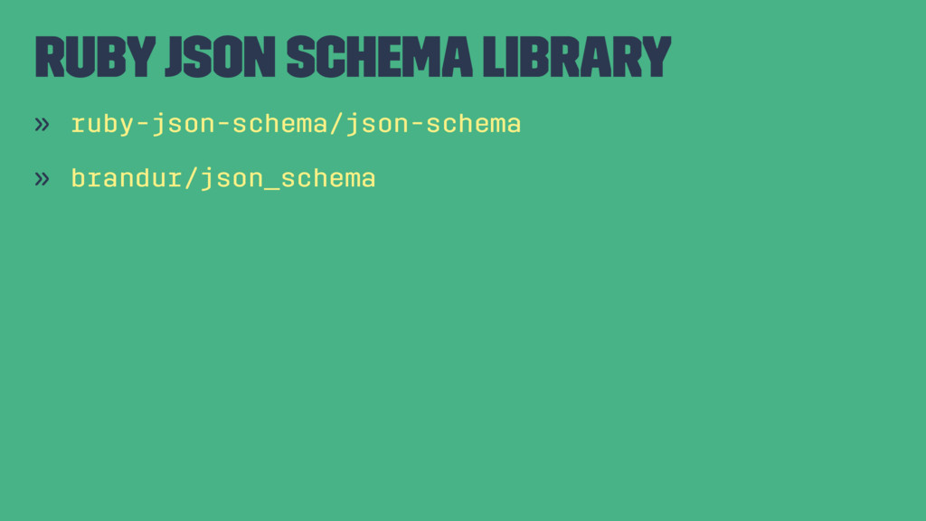 Ruby JSON Schema Library » ruby-json-schema/jso...
