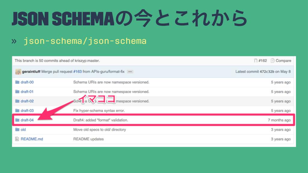 JSON Schemaͷࠓͱ͜Ε͔Β » json-schema/json-schema