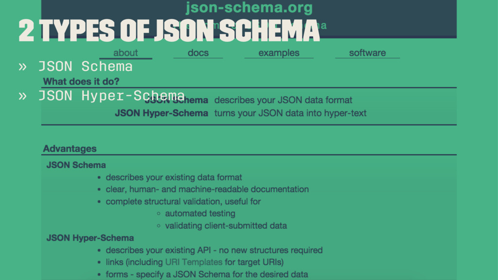 2 Types of JSON Schema » JSON Schema » JSON Hyp...