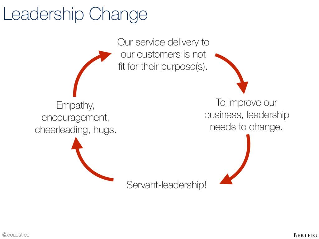@xroadstree Leadership Change To improve our bu...