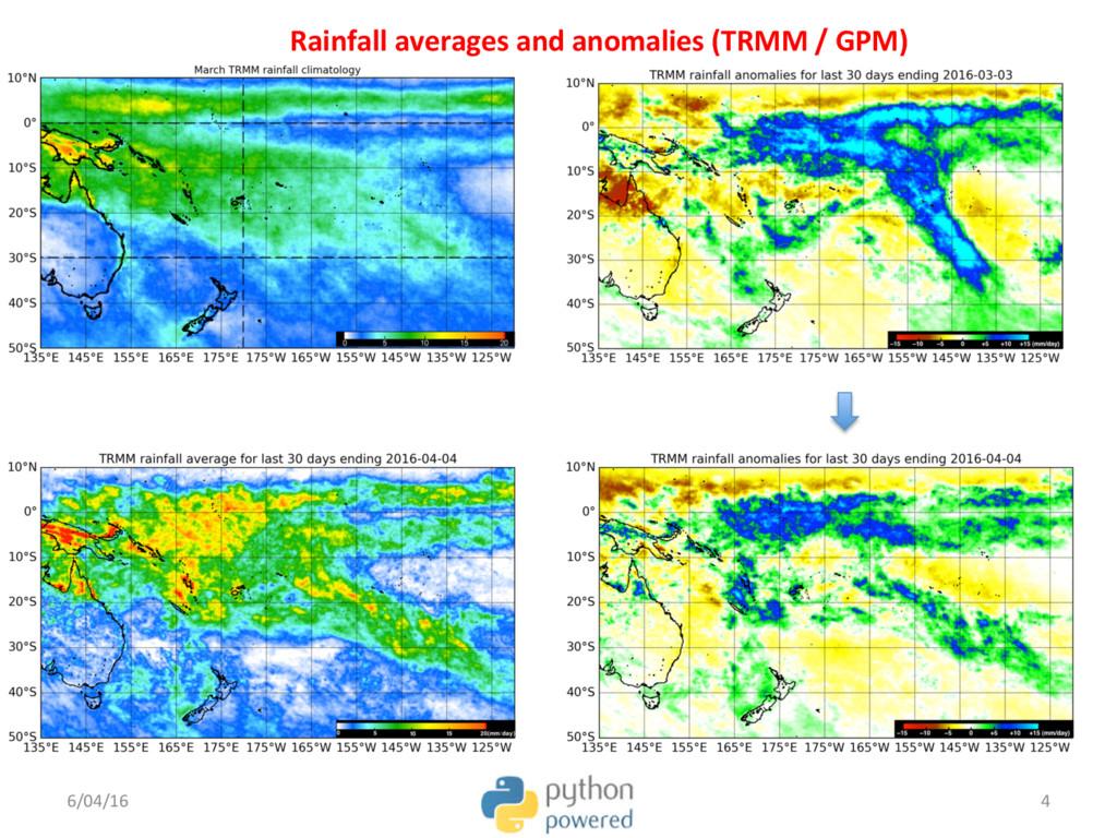 Rainfall averages and anomalies (TRMM / GPM) 6/...