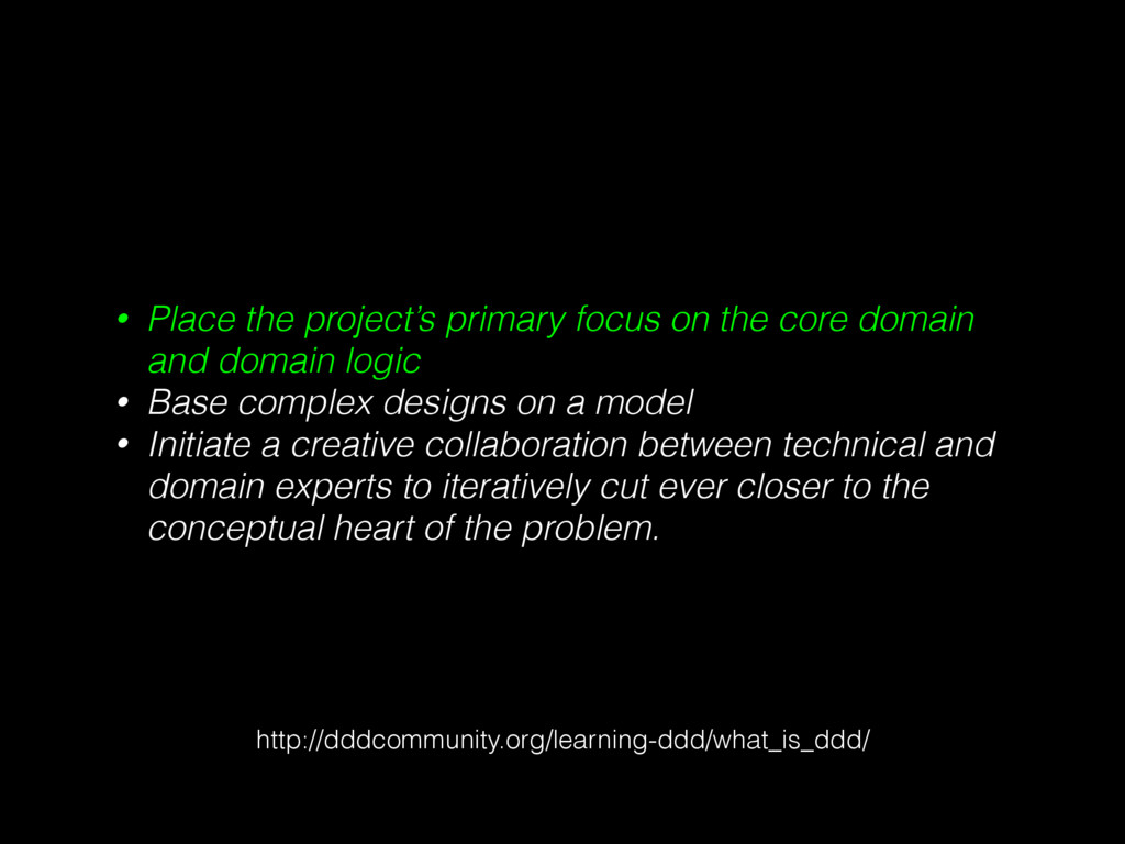 • Place the project's primary focus on the core...