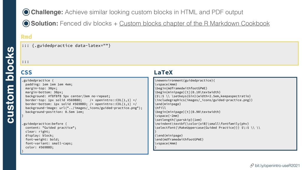 custom blocks ๏Challenge: Achieve similar looki...