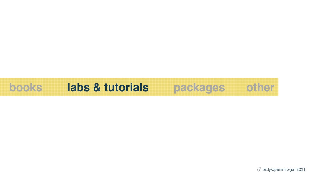 books labs & tutorials other packages 🔗 bit.ly/...
