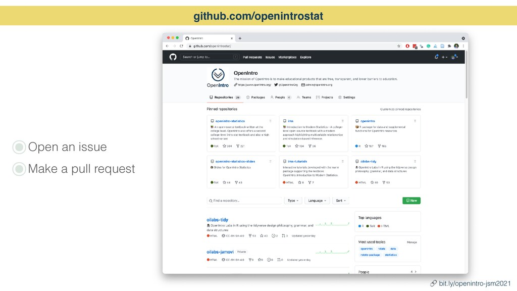๏Open an issue   ๏Make a pull request github.co...