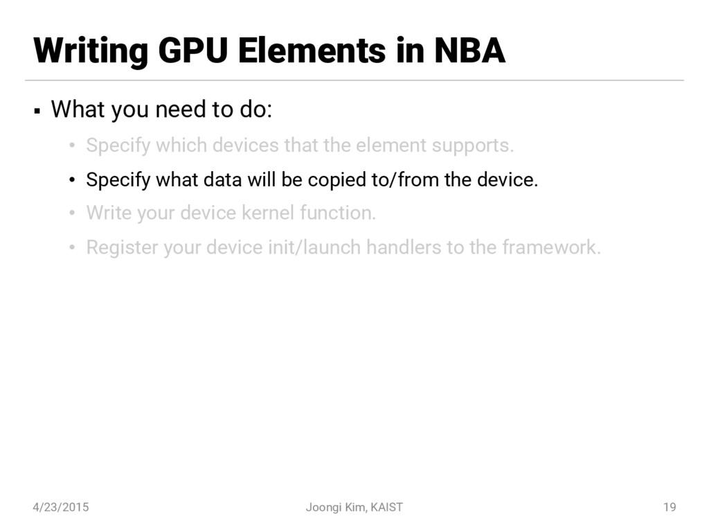 Writing GPU Elements in NBA § What you need to ...