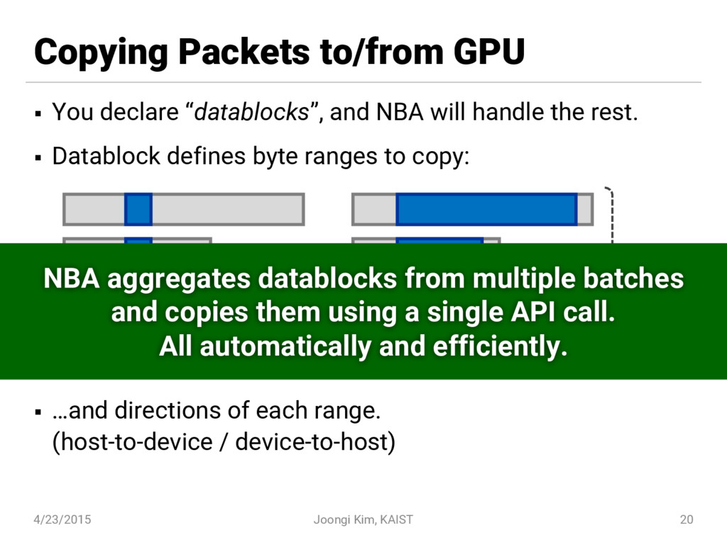 """Copying Packets to/from GPU § You declare """"data..."""